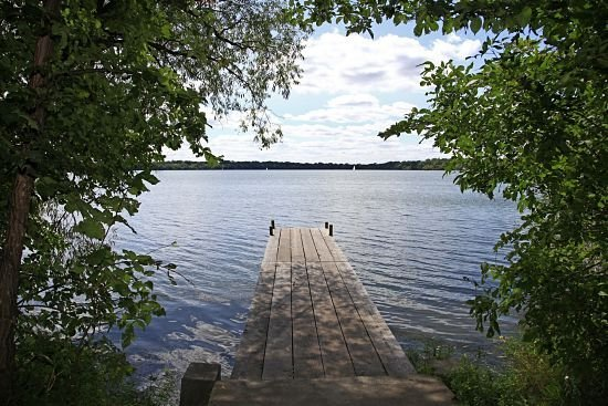 dock on a lake in Maple Bluff WI